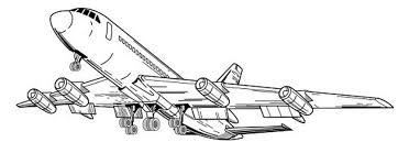 coloriage avion les beaux dessins de transport à imprimer et