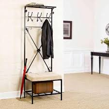 entryway storage benches and coat racks at brookstone u2014buy now