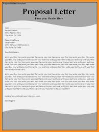 letter of business proposal formal business proposal letter