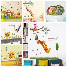 desain kamar winnie the pooh winnie pooh tigger animal cartoon vinyl wall stickers kid rooms home