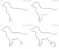 drawing a dog step by step how to draw dog for kids step step 1382