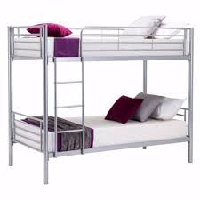 Twin Single Bunk Bed Frame Silver Ft Bed Childrens Twin Metal - Single bunk beds