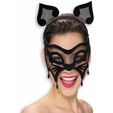 com rubie u0027s black mesh cat mask with ears costume masks clothing