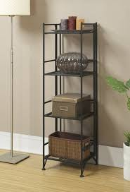 Iron Folding Bookcase Zipcode Design Edwin 4 Tier Folding Shelf 45