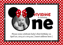 personalized minnie mouse invitations waterbaby designs