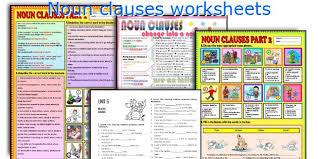english teaching worksheets noun clauses