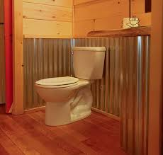 bathroom wall idea rustic cabins wrapped with tin on the outside corrugated tin