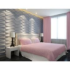 Decorating Bedroom Walls by Shop Threedwall Threedwall 1 63 In X 1 63 Ft Embossed Bamboo