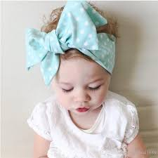 fabric headbands 2016 new europe kids fabric big bow headbands baby polka dot
