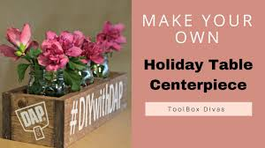 diy holiday wooden centerpiece box youtube
