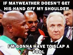 Larry Meme - larry merchant meme mayweather proboxing fans com