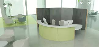 Office Desk Divider by Floor Mounted Desk Partition Plastic Modular Fluowall Screen Idolza
