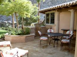 Mediterranean Patio Design Patio Bbq Designs Garden Design