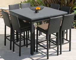 Patio Bar Table Set Outdoor Bar Stools And Tables