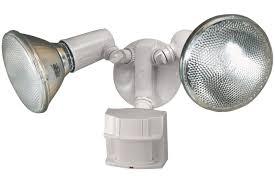 solar motion detector flood lights heath zenith hz 5411 wh heavy duty motion sensor security light new