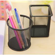 sale black round steel mesh style pen pencil cup desk