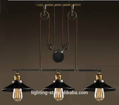 3 Pendant Light Artistic Pendant Light With 3 Lights In Pulley Block Design Morden