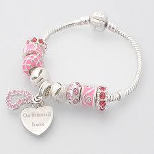 bridesmaid jewellery bridesmaid jewellery personalised bracelet pink