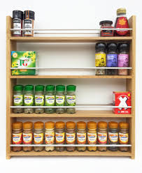 Wood Wall Mount Spice Rack Decorating Mesmerizing Wooden Spice Rack 24 Jar With 3 Tier Shelf