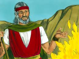 religious artist moses and the burning bush