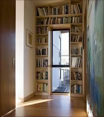 Contemporary Oak Bookcase 3 Shelf Bookcase With Doors Home Design Ideas
