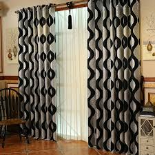 curtain designer black and silver best wave striped unique designer modern curtains