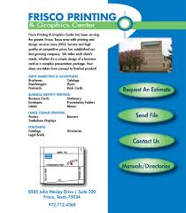 Format Of A Business Card Frisco Printing