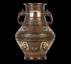 Enamel Vase Bronze Champleve Enamel Vase Or11708 Second Hand Antiques U0026 Fine Art