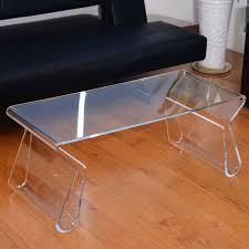 sleek and elegant looking lucite table u2014 unique hardscape design