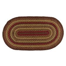 braided rug cinnamon oval braided rug 20 x30 kitchen dining