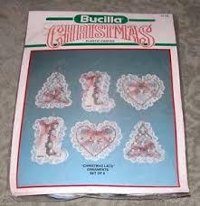 vintage bucilla lace plastic canvas needlepoint
