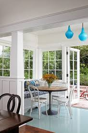 sunroom breakfast nook transitional with eclectic kitchen