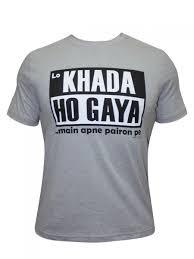 buy t shirts online khada ho gaya apne pairon pe round neck t