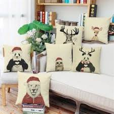 Christmas Decoration For Home Black And White Style Decorative Cushions Simple Word Style