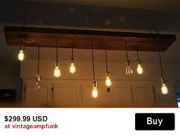 9 Bulb Chandelier 9 Bulbs Edison Chandelier Salvage Lumber Wood Light Vintage