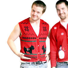 scottie dog tacky ugly christmas sweater vest the ugly sweater shop