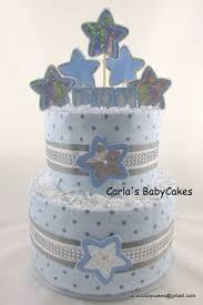 moon stars diaper cake baby diaper cake boy by mscarlasbabycakes