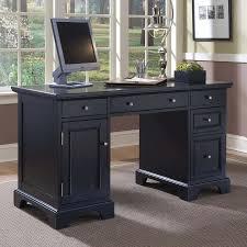 Black Corner Desk With Drawers Furniture Black Desk With Drawers Black Glass Computer Desk