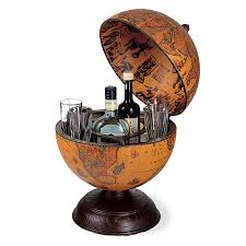 Small Desk Globe Classic Desk Globe With Small Drinks Cabinet Bar Globes