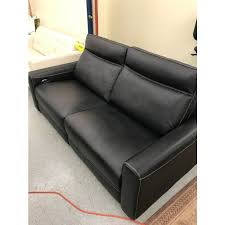 Power Reclining Leather Sofa Marzia Black Leather Sofa With Power Recline Marzia Leather Sofa