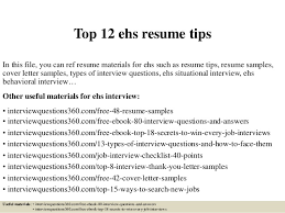 Resume Tips Resume Tips Resume by Ehs Resume Ehs Resume Top 12 Ehs Resume Tips 1 638jpgcb1428688608