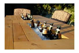 Patio Table Beer Cooler Patio Table With Built In Beer U0026 Wine Coolers Paperblog