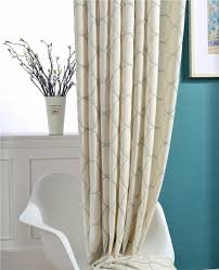 cream modern blackout curtains for living room simple bedroom
