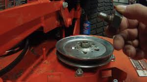 fixing a spindle shaft on a zero turn mower kubota z725 youtube