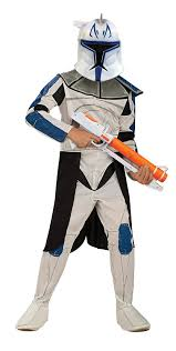 star wars costumes amazon com star wars clone wars clone trooper child u0027s captain rex