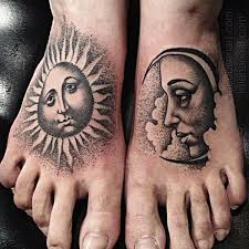collection of 25 sun and moon tattoos for