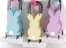 easter bunny decorations easter tree bunny hangers pack of 3 gifts from handpicked