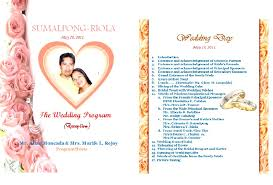 Wedding Programs Sample A Teacher U0027s Blog Wedding Program