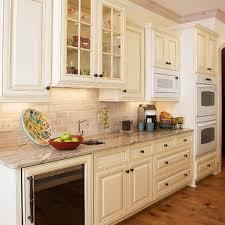 Cream Distressed Kitchen Cabinets Excellent Stunning Cream Subway Tile Backsplash Cream Subway Tile