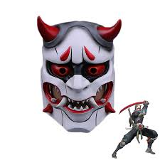 made cosplay genji skin oni mask cosplay props for halloween party